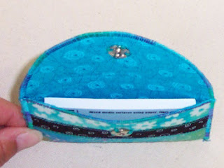 business card case fabric quilted