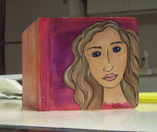 painted board book face