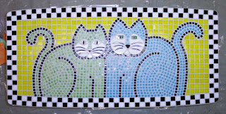 cat mosaic coffee table
