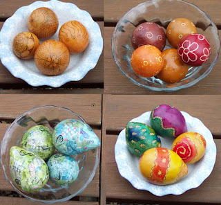 decorated egg gourds