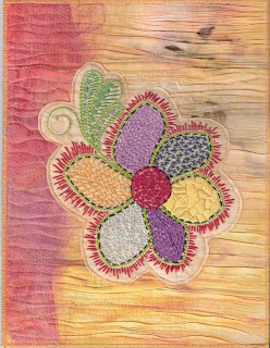 fabric journal art quilt
