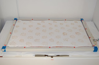 stretcher frame fabric resist