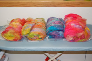 wool spinning batts