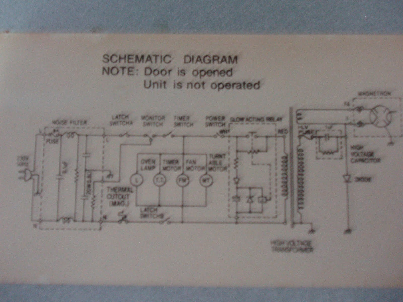 Vintage General Electric 1200w Microwave Oven Electronics New Old Refrigerator Wiring Diagram