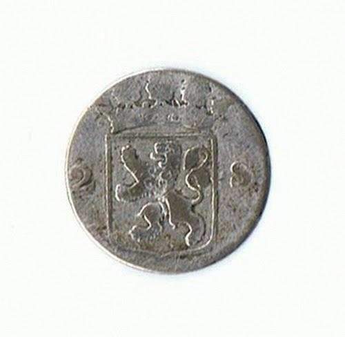 Koin Kuno Langka Coin Silver Hollandia 1789 2s