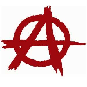 Una letra 'A' circunscrita, símbolo de la Anarquía