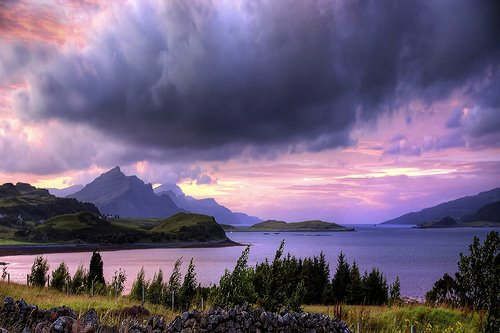 skye sunset, scotland