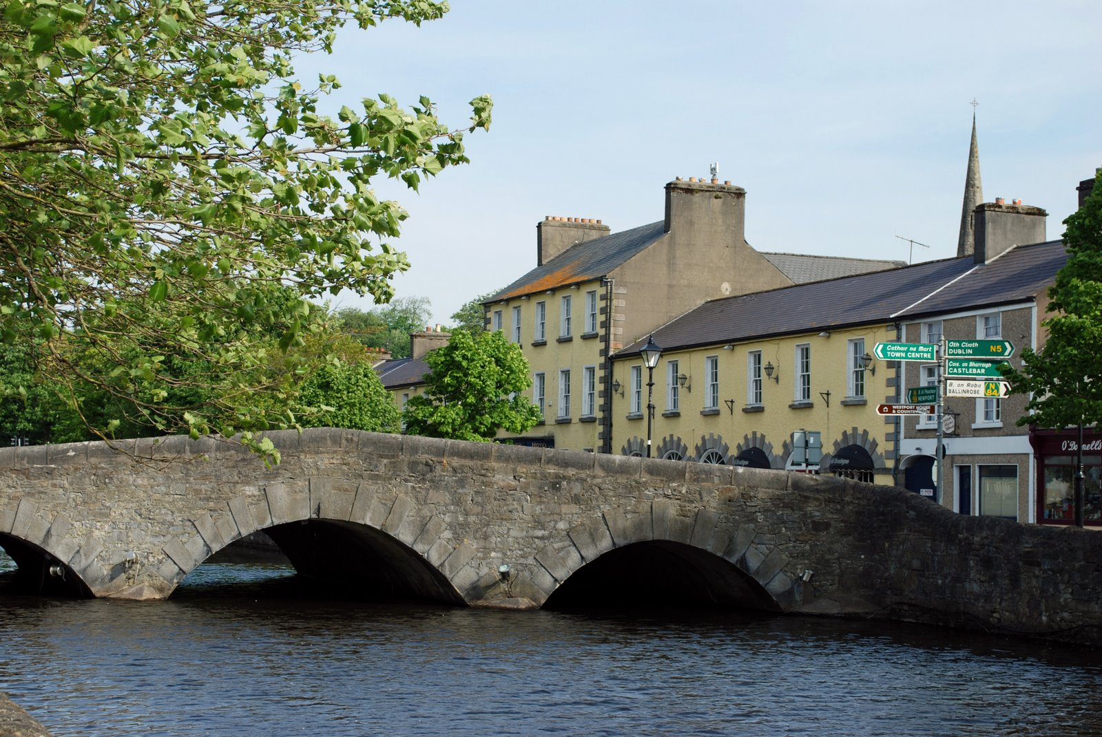bridge over carrowbeg river, westport, ireland