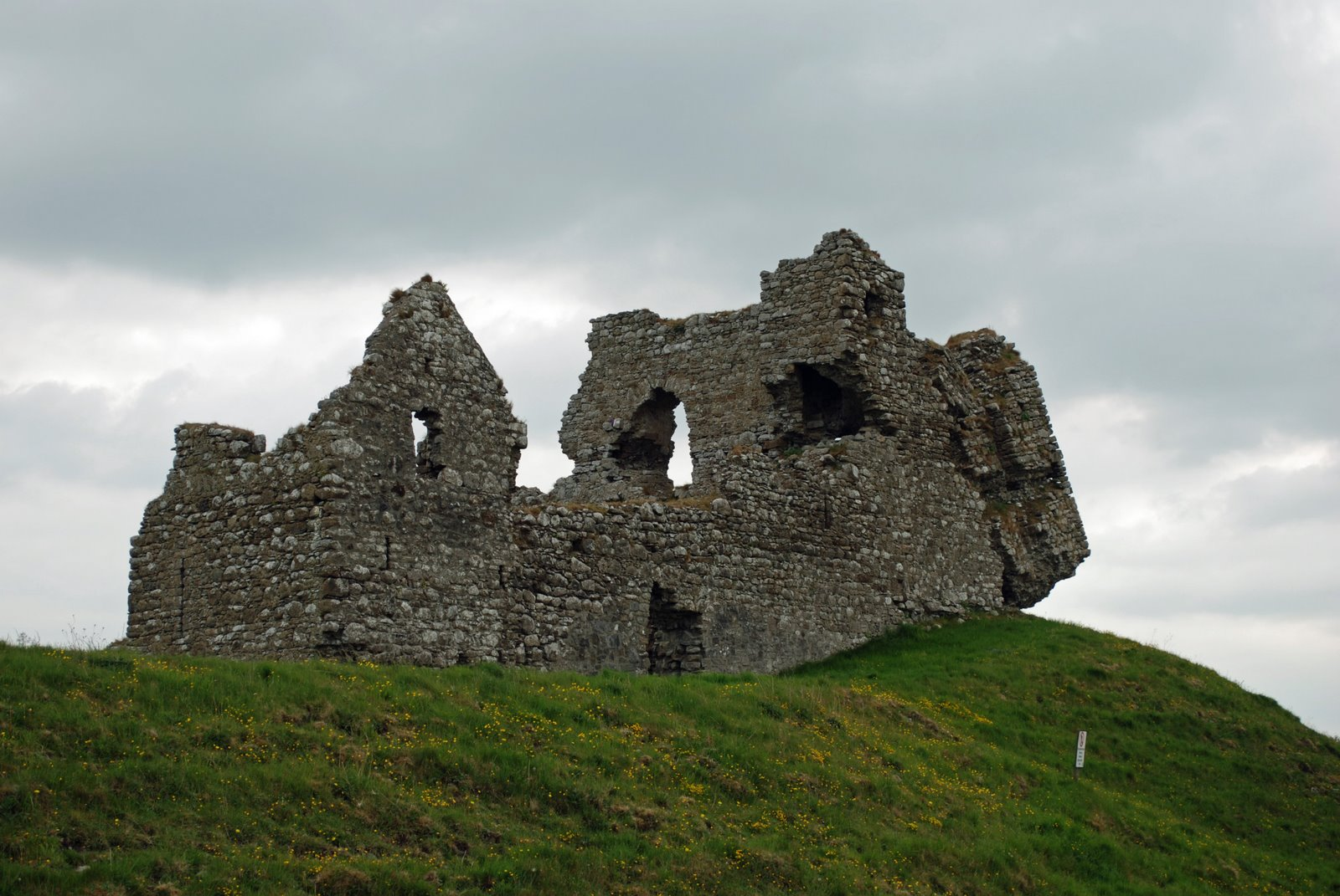 castle ruins at clonmacnois