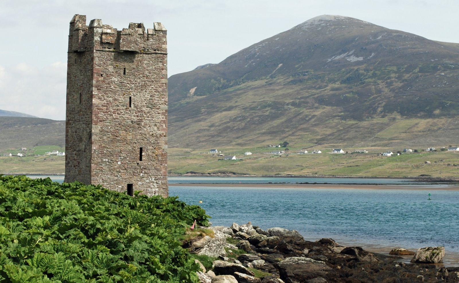 kildownet castle, achill island, ireland