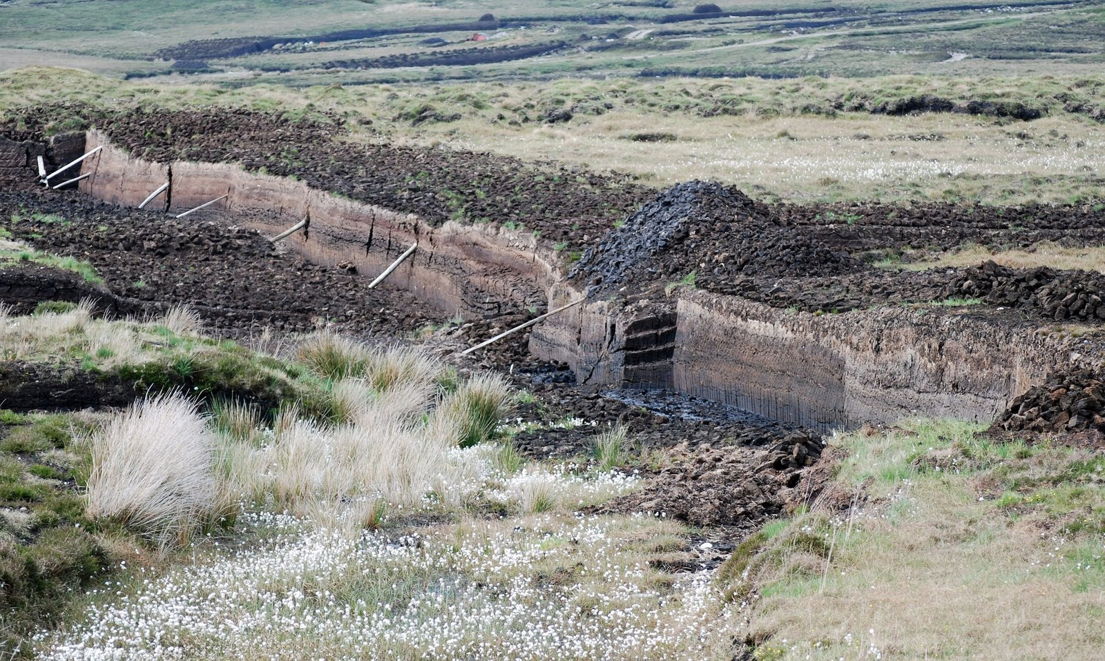 cut peat, achill island, ireland
