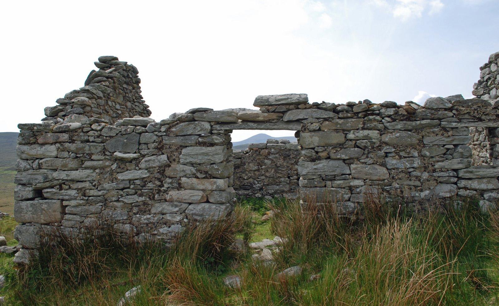 deserted village, slievemore, achill island