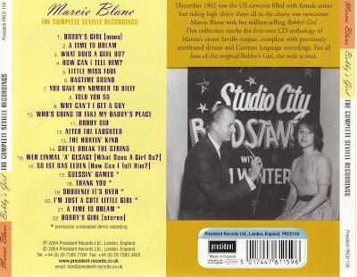 Marcie Blane - Bobby's Girl :The Complete Seville Recordings