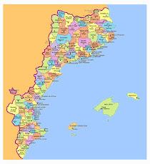Mapa de comarques dels països catalans