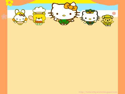 Hello Kitty Wallpaper Cute Hello Kitty Orange Wallpaper