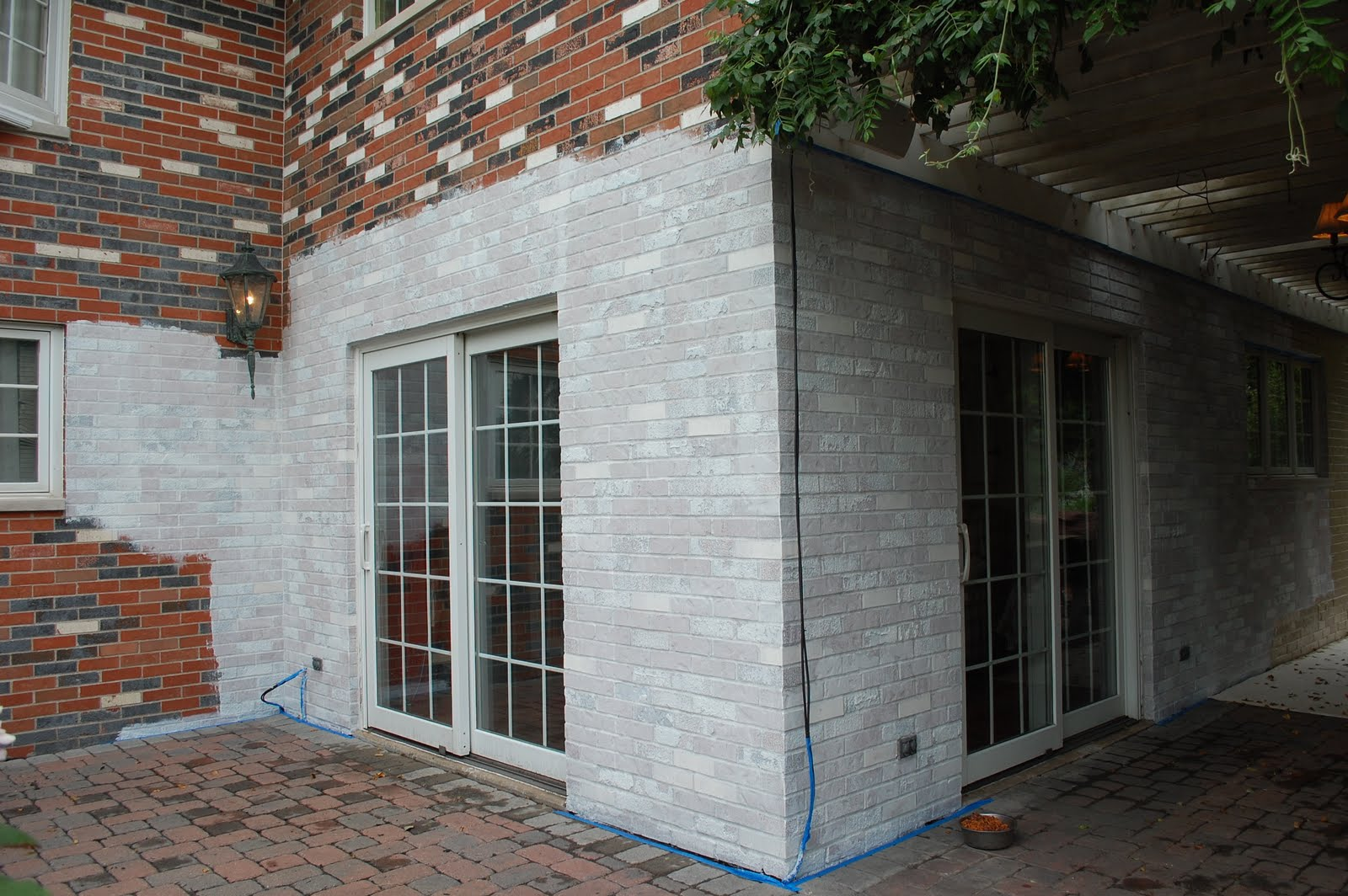 Exterior Makeover: Painting The Brick-Day 5 on Brick Painting Ideas  id=98281