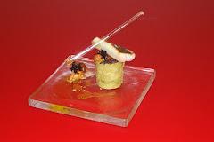 San Pedro con brioche de té matcha y setas (Gastronomicae)