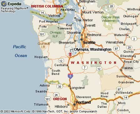 Olympia Washington Map Pictures To Pin On Pinterest