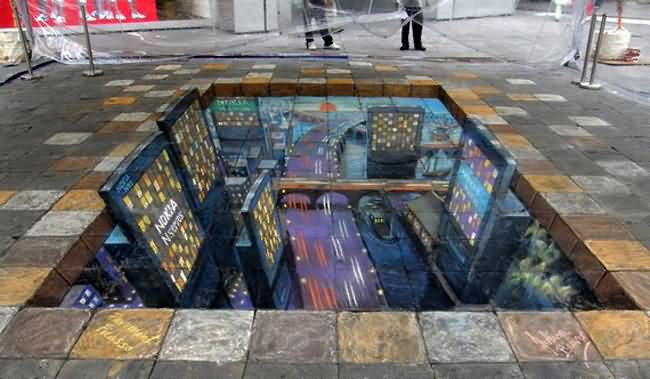 3d Painting On Street Or Floor Collections All About Photo