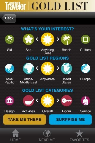Conde Nast Traveler Gold List iPhone App