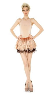 Alice and Olivia feather skirt