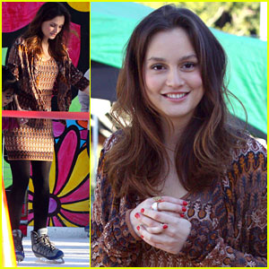Leighton Meester ice skating