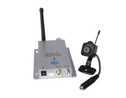 Mini Wireless Spy Camera System with Microphone