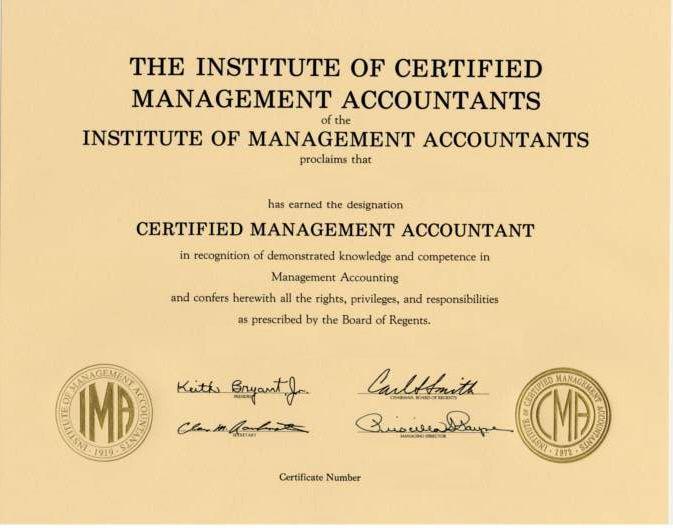 cma program ima course member trade below take
