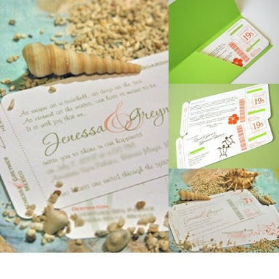 DIY Project Airline Ticket Invitation/Save The Date Soireebliss - airline ticket invitation