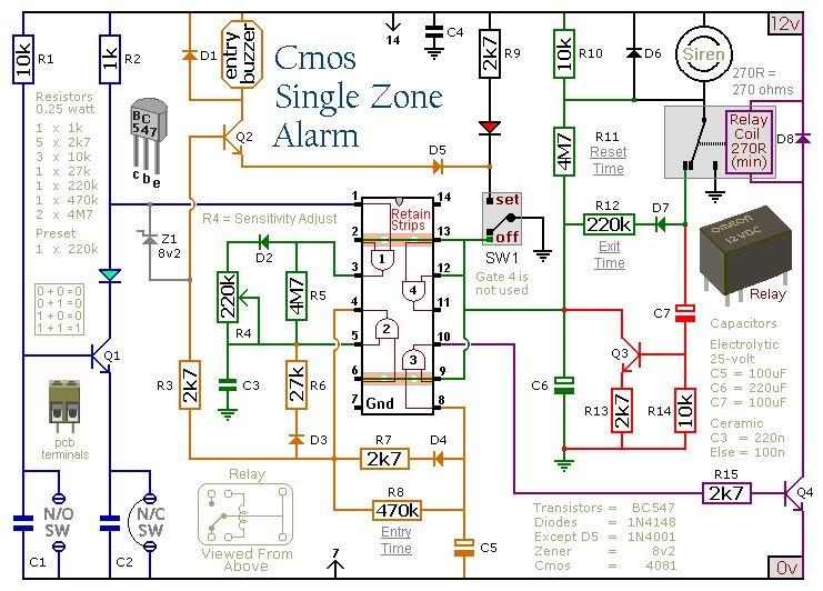 Intruder Alarm  Intruder Alarm Wiring Diagram