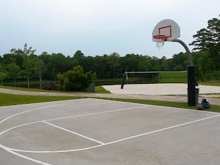 demi terrain de basket
