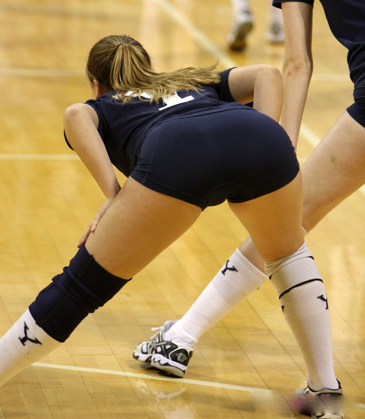 high school girls in volleyball shorts