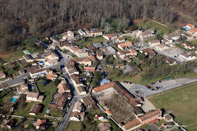 Photo aérienne de la commune de Saint Selve