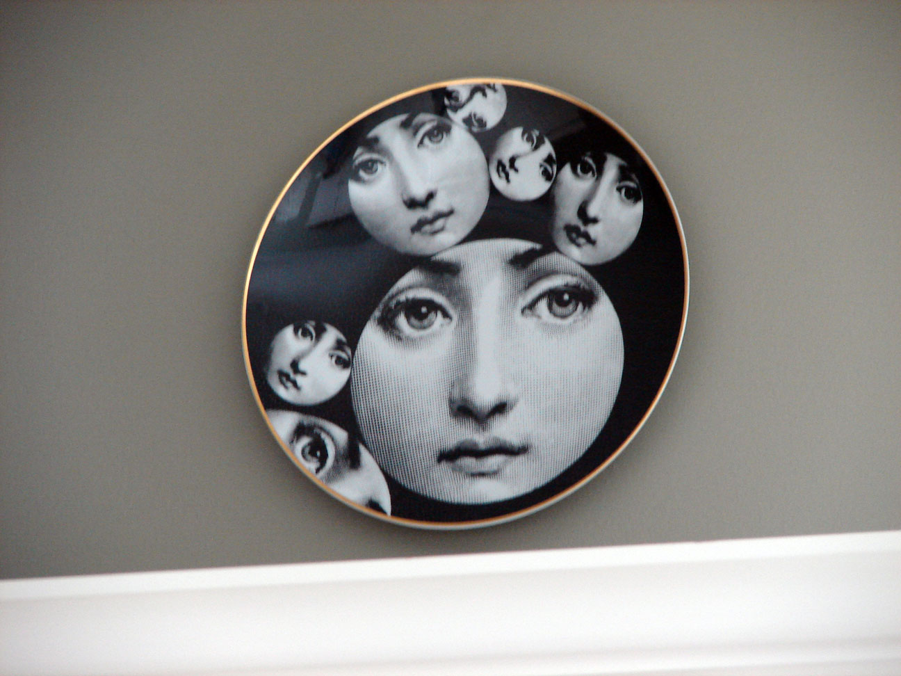 Fornasetti Face Wallpaper Wallpaper Fornasetti Wallpaper