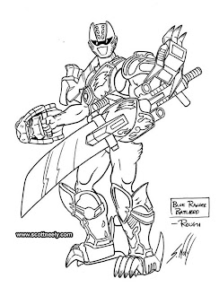 Scott neely 39 s scribbles and sketches power rangers for Power ranger jungle fury coloring pages