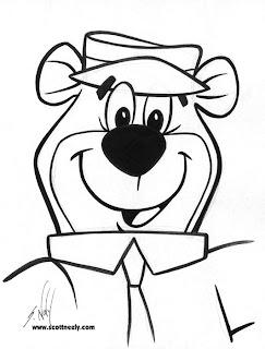 yogi bear cartoon coloring pages - photo#16