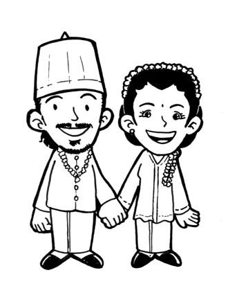 Gambar Kartun Pengantin Sunda