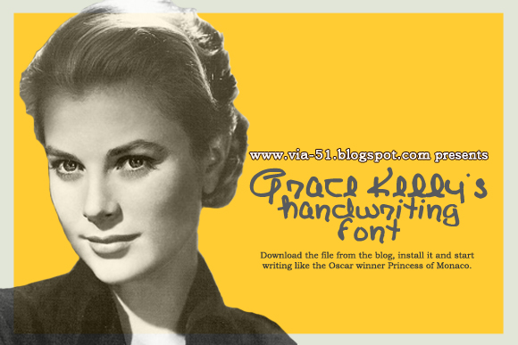 Click the banner to download Grace Kelly's handwriting font!