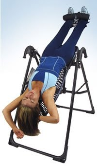 hanging upside down chair for back gym deluxe bands 365 pain free days 92 hang in there from find relief traction therapy or inversion example on an table means you