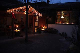 屋外的圣诞灯饰