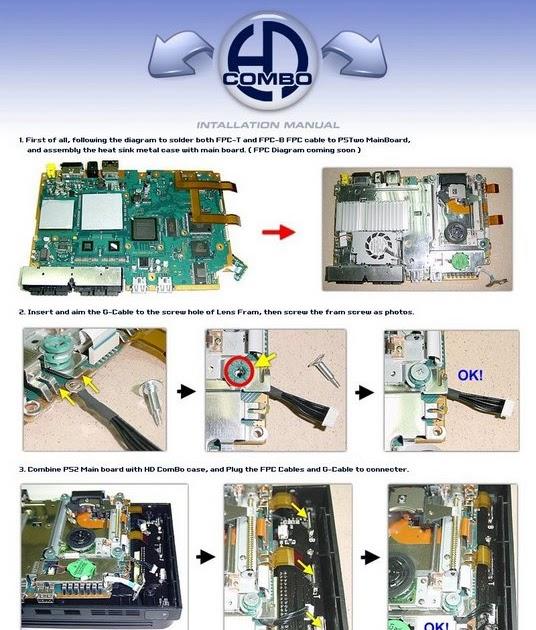 GAMES TRICK: Instalasi HDD Combo di PS2 Slim