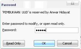 Masukkan kembali password untuk konfirmasi