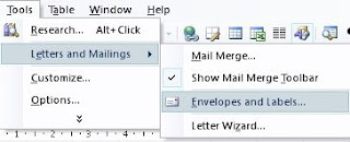 Gambar Menu Setting Membuat Label MS Word