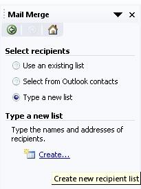 Gambar Create new recipients list