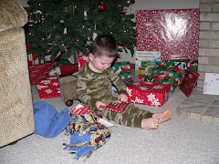 Zach on Christmas Morning
