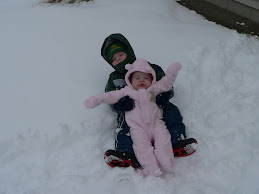 Zach and Izzy in the snow!