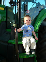 On the John Deere Tractor