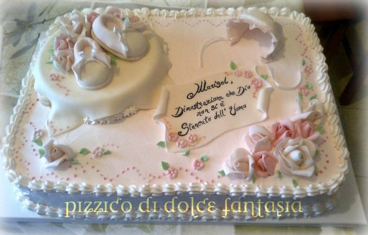 Conosciuto Pizzico di Dolce Fantasia ..: Torta Battesimo Marisol MW28