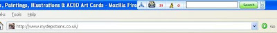 Mydepictions Favicon in Firefox address bar