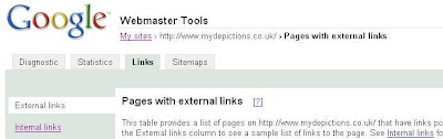 The Links Tab in Google Webmaster Tools